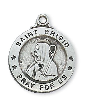 McVan St Brigid of Kildare Sterling Silver Medal