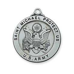 McVan Army St Michael Sterling Silver Protect Us