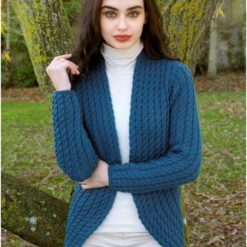 Cable Stitch Bolero Teal X4895 100% Super Soft Merino Wool cladafh claddagh cladagg calddagh cladah kladdagh kladagh kaldagh irish sweater riish iriss irrish riish irrisshh irish sweater weather kilt klit kitl klit models tratan tartan artna tarntasn tartans
