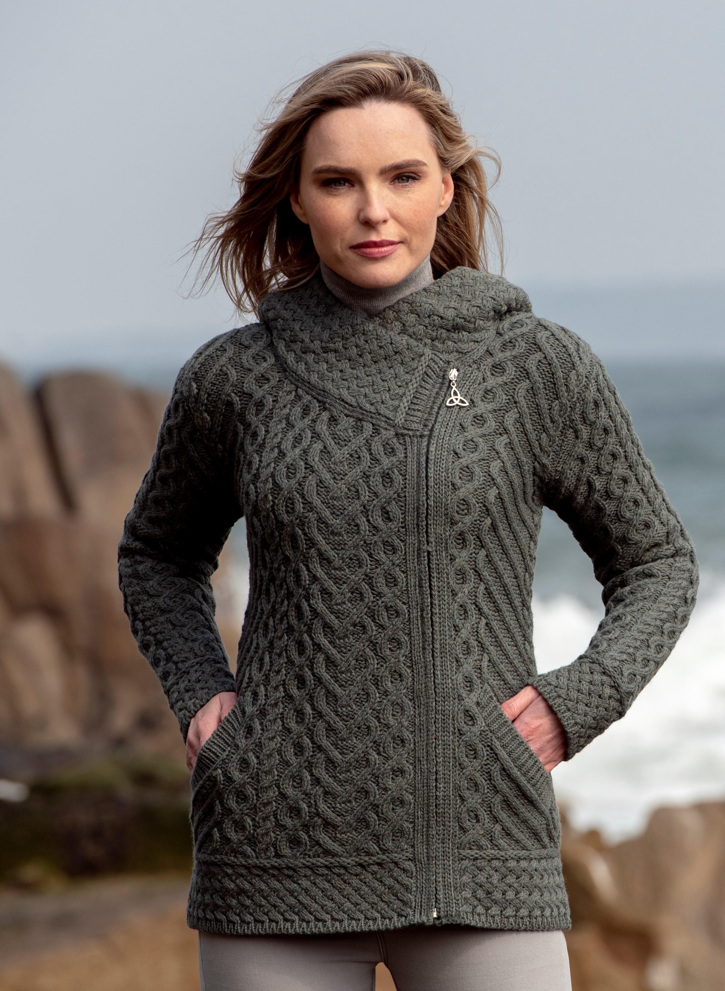 Tundra Heart Stitch Side Zip Hooded Jacket Crossover Merino Wool