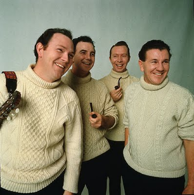 The Clancy Brothers in their Signature Aran Sweaters. Ed Sullivan Show
