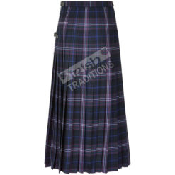 Ladies Scottish Tartan Hostess Skirt Back