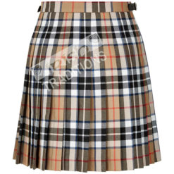 Back of Tartan Kilt Mini Skirt Thompson Camel Example