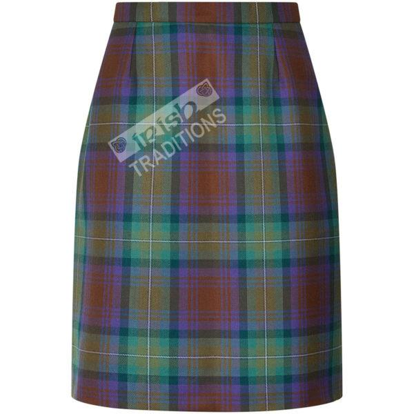 Ladies' Tartan Laura Skirt Darted Single Vent Pencil Skirt Style