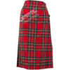Ladies Tartan Semi Kilted Skirt - Deeper Pleats