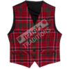 Men's Tartan Vest Wool Reiver Lightweight Fabric Custom Made Scotland