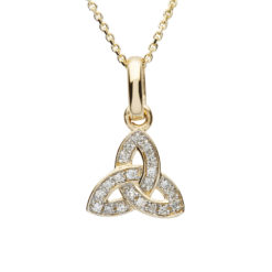 Trinity Knot 14Karat Gold Diamond Set Pendant