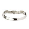 White 14K Diamond Claddagh Fitted Band