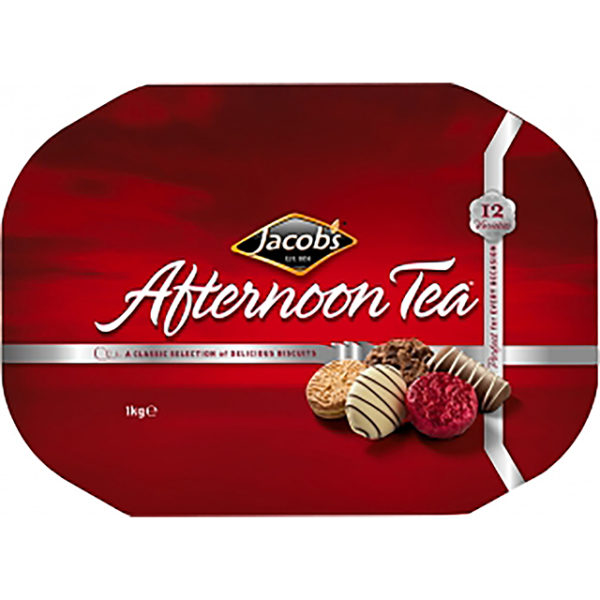 Jacob's Afternoon Tea Biscuit Tin Christmas Food Ireland