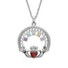 A Mother's Love Birthstone Claddagh Pendant 5 Stones
