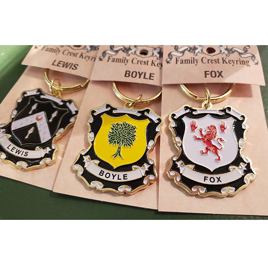Family Crest Keyring Heraldic Enamel Keyring