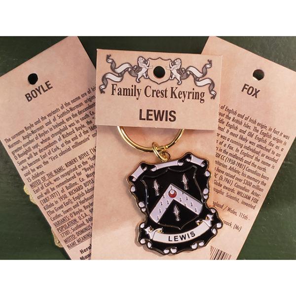 Family Crest Keyring Heraldic Enamel Keyring Back Cards