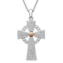 Celtic Warrior Large Cross 18k Bead