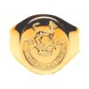 Extra Heavy Hand Engraved Seal Ring Yellow Gold