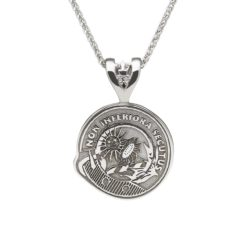 Scottish Crest Pendant Sterling Silver or White Gold