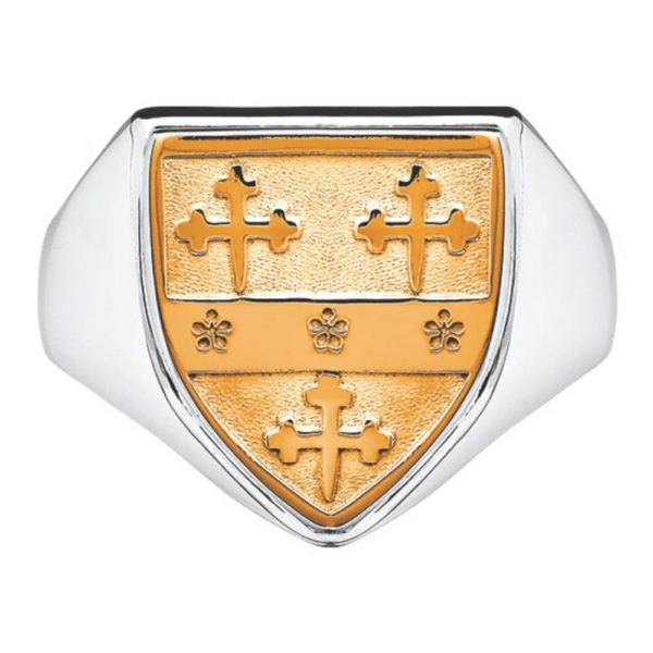 Coat of Arms Heraldry Gents Heavy Shield Ring -SS10kYG-Shield