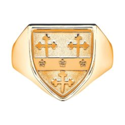 Heavy Shield Gents Coat of Arms Ring 1 YG Metal
