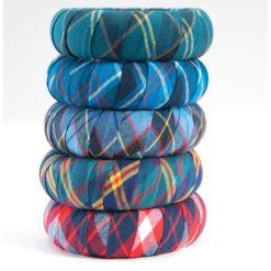 Stacked Military Tartan Co Bracelets