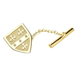 Shield Coat of Arms Tie Tac Yellow Gold