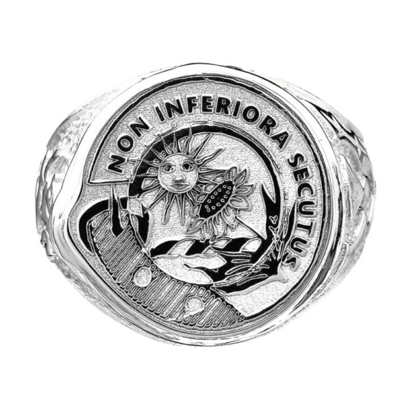 Scottish Crest Ring Sterling Silver or White Gold
