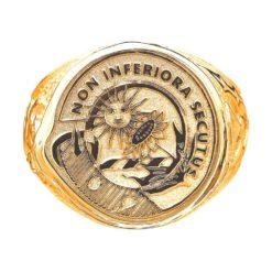 Scottish Crest Ring Yellow Gold