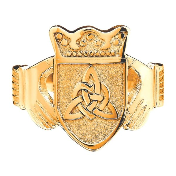 Gents Claddagh Coat of Arms Ring YG 10k 14k