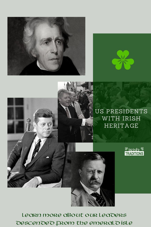 US Irish Presidents Pin