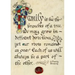 Family Like Branches Illuminated Manuscript Print