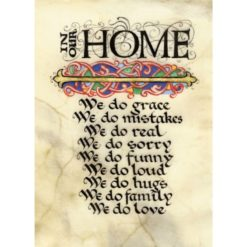 In Our Home Illuminated Manuscript Print