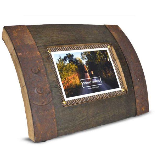 Bilge Whisky Frame Reclaimed Oak Whisky Barrel Freestanding Photo Frame