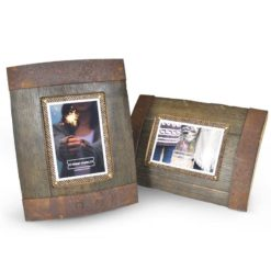 Bilge Whisky Frame Reclaimed Oak Whisky Barrel Freestanding Photo Frame