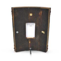 Bilge Whisky Frame Reclaimed Oak Whisky Barrel Freestanding Photo Frame Back View