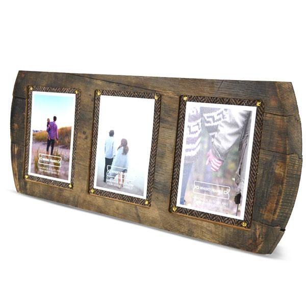 Barrel Head 3 Picture Frame Whisky Frames