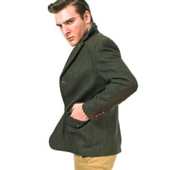 McDonagh Green Irish Tweed Heritage Jacket Modeled
