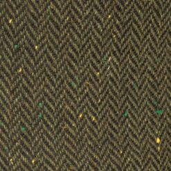 McDonagh Heritage green herringbone Irish Tweed closeup
