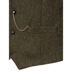 Green Waistcoat Pocket Detail