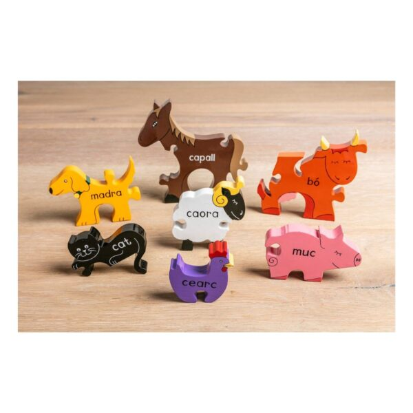 Irish Farm Animals Puzzle Modeled and pieces stand independently
