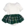 Wee Ones Green Kilted Onesie