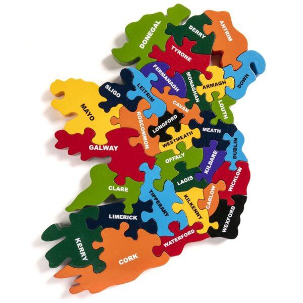 Ireland Jigsaw Puzzle of all 32 Irish Counties