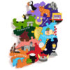 Ireland Wooden Jigsaw Puzzle Provinces with animals and landmarks