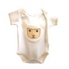 Baby Sheep Onesie with a lamb face on the belly