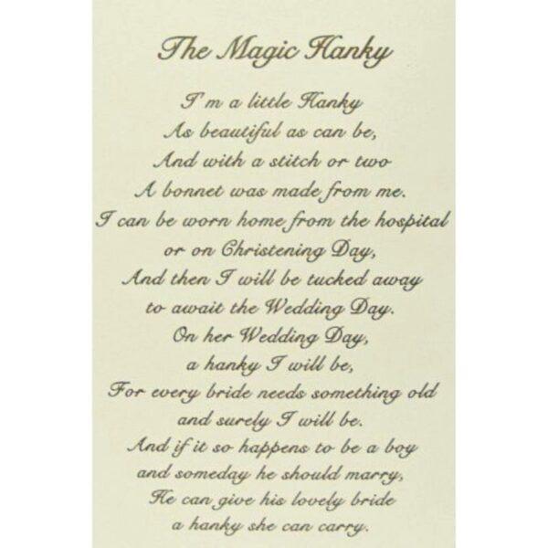 Magic Bonnet Poem