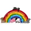 Rainbow Jigsaw Puzzle for Kids with Irish language words for each color