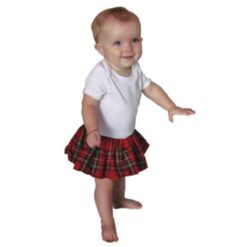 Wee Ones Red Kilted Onesie