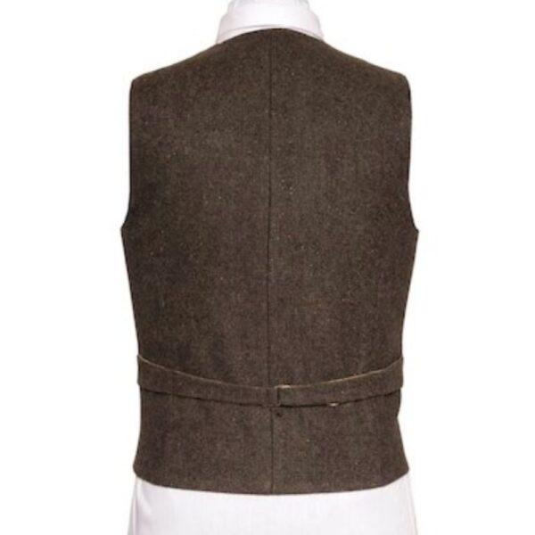 Oscar Wilde Waistcoat with brown hopsack Irish Tweed Back