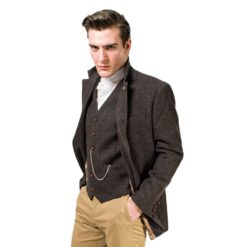 Irish Tweed Brown Stephens Jacket Details
