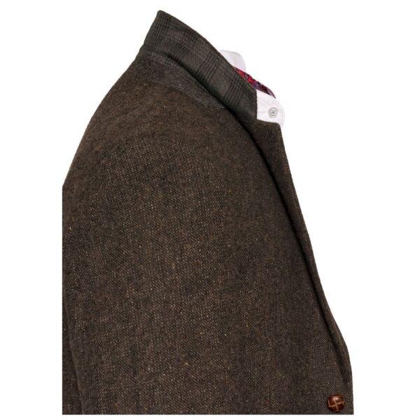 Irish Tweed Brown Stephens Jacket Details
