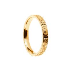 Very Narrow Yellow Gold Celtic Warrior Wedding Band