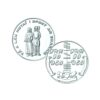 Irish Wedding Token Coin in Sterling Silver