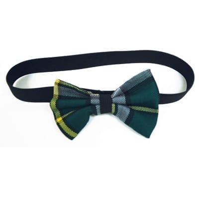 Green Tartan Head Bow